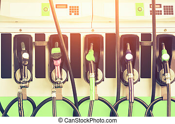 Gasoline nozzle station