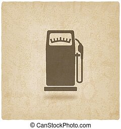 gasoline pump old background - vector illustration. eps 10