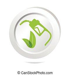 Gasoline pump sign button icon