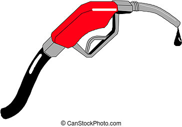 gasoline pump with drops