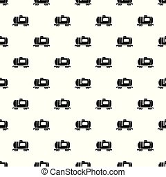 Gasoline railroad tanker pattern vector seamless