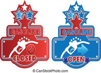 Gasoline sign
