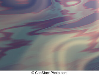 Gasoline Slick - Abstract of an oil or gasoline slick.