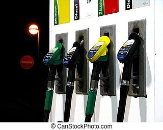 gasolinera, bombas