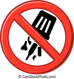 gaspillage, décharge, prohibits