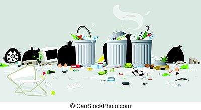 gaspillage, déchets