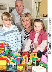 gastando, avós, tempo, grandchildren, seu