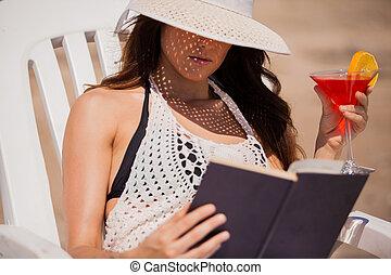 gastando, feriados, praia