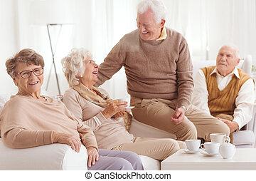 gastando, pessoas, aposentado, junto, tempo
