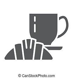 gasthaus, zeichen, muster, lebensmittel, fest, vektor, hintergrund., grafik, ikone, weißes, café, essen, glyph