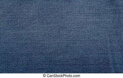 gasto, azul, jeans esconderijos, textura, fundo