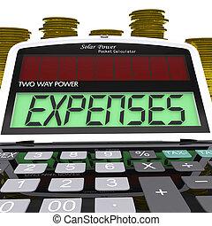 gastos, calculadora, exposiciones, empresa / negocio, gasto, y, teneduría de libros