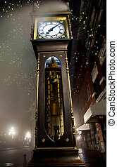 gastown, vancouver, orologio vapore