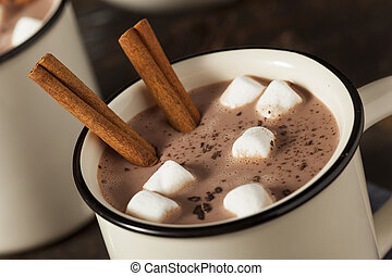 gastrónomo, chocolate caliente, leche