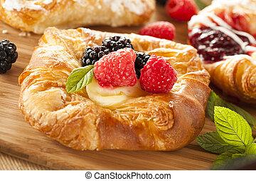gastrónomo, pastel danés, casero