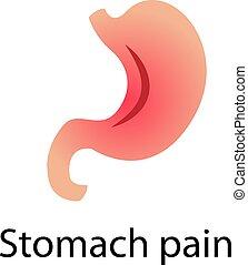 Gastritis. Stomack pain vector illustration