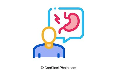 gastroenterologist doctor Icon Animation. color gastroenterologist doctor animated icon on white background