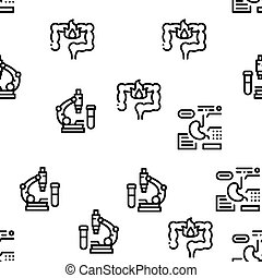 Gastroenterology And Hepatology Icons Set Vector - ...