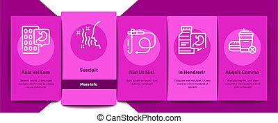 Gastroenterology And Hepatology Onboarding Elements Icons ...