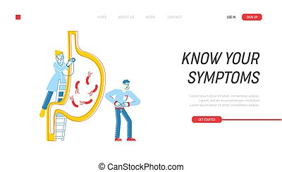 Gastroenterology Landing Page Template. Doctor Character ...