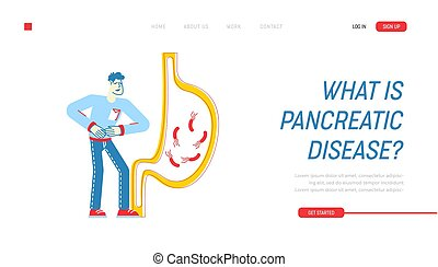 Gastroenterology Landing Page Template. Patient Character ...
