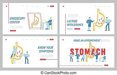 Gastroenterology Landing Page Template Set. Medics ...