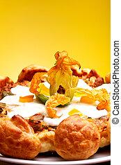 gastronomia, -, francês, gougère