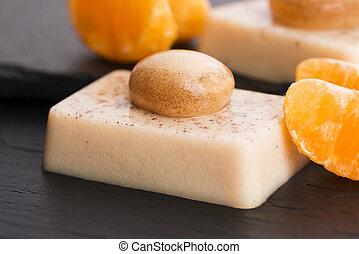 gastronomie, moléculaire, -, dessert