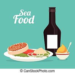 gastronomie, nourriture, mer