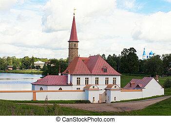 gatchina, priorato, palacio, vista