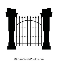 Fence Gate Cemetery House PNG, Clipart, Angle, Black And White, Cemetery,  Chainlink Fencing, Clip Art Free