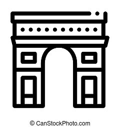 gate arch saint denis icon vector. gate arch saint denis sign. isolated contour symbol illustration