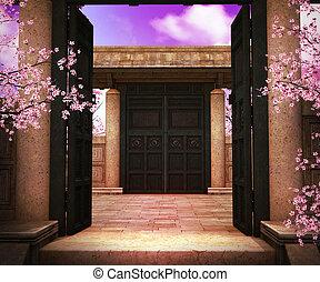 Gate Asian Backdrop