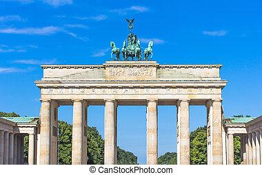gate., brandenburg, duitsland, berlin