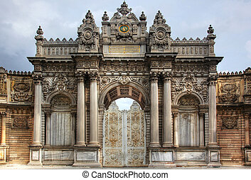 Gate Dolmabahce Palace Istanbul