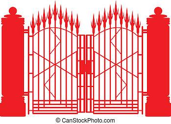 gate., ferro