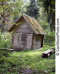gate-house, bois construction