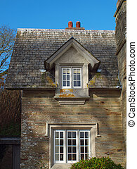 Detail of the gatehouse on the Penrose estate near Helston in Cornwall