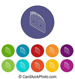 Gate icons set color
