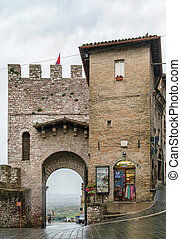 gate in Assisi, Italy
