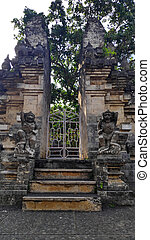 Gate in Pura Luhur Uluwatu temple on Bali