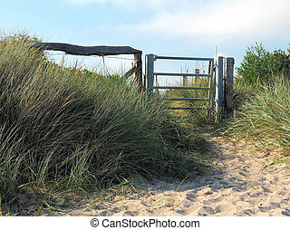 Gate in the dunes
