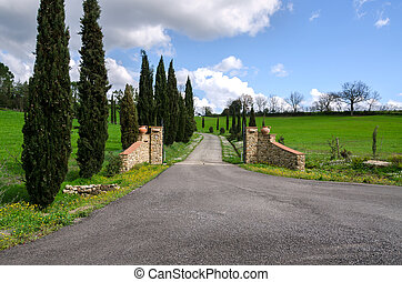 gate in Tuscany