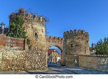 Gate in wall, Signagi, Georgia