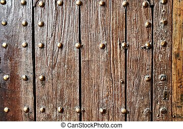 Gate made of aged lumber