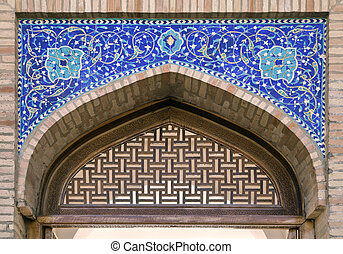 Gate of a mosque in Tashkent