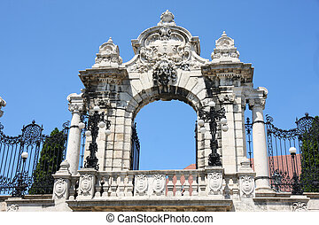 Gate of Buda Castle in Budapest, Hungary