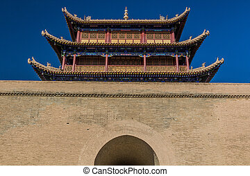 Gate of Jiayuguan Fort, Gansu Province, Chi