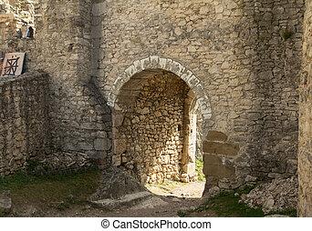 gate of medieval castle
