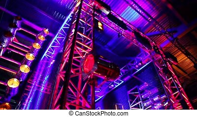 Gate of metal constructions with light Equipment, downward...